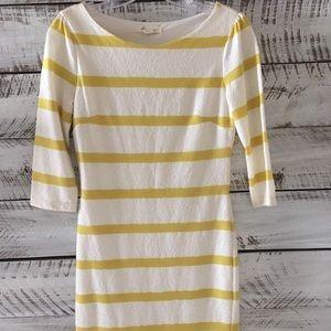 Cream And Yellow Striped Dress